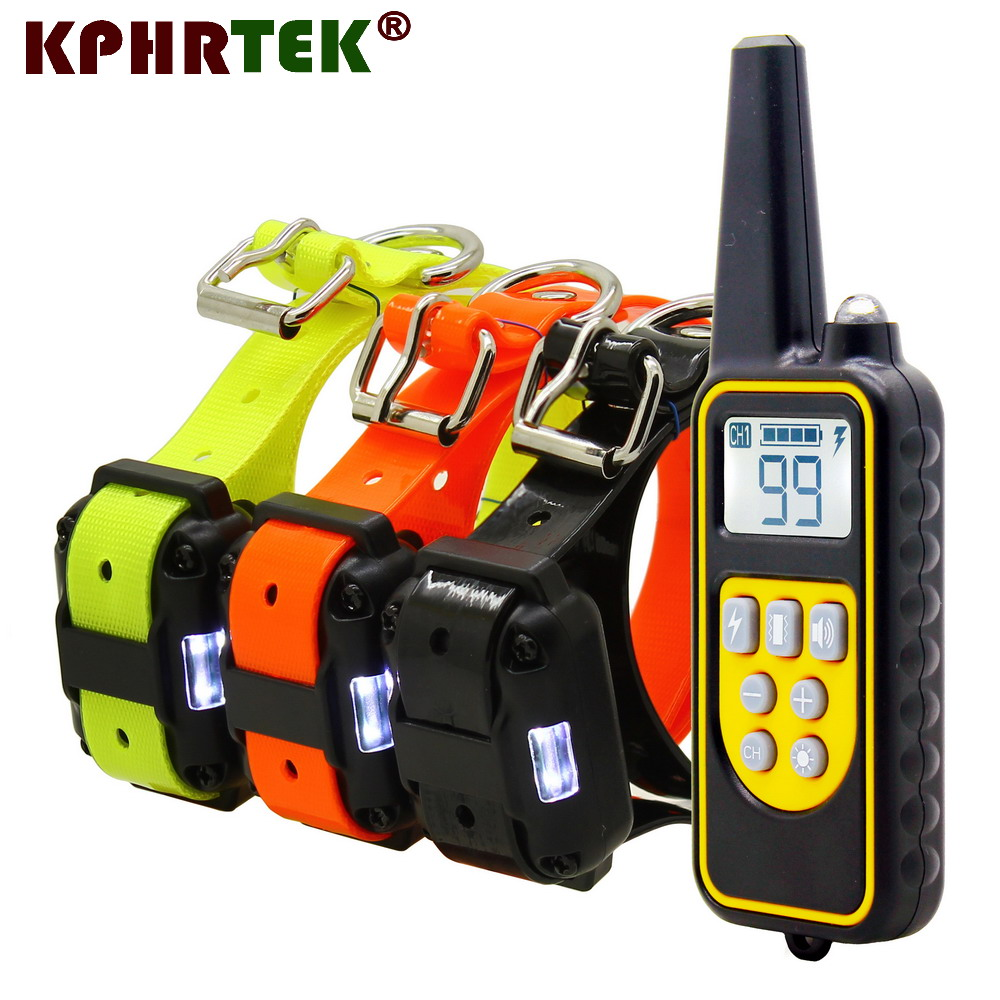 2018 New Version 800 Meters Remote Dog Training Collar Rechargeable And Waterproof KPHRTEK KP-DT01 Shock Vibration 28815180421