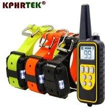 Collar de adiestramiento de perros KPHRTEK, Nueva Versión 2018, 800 metros, recargable a distancia, resistente al agua, vibración de choque de KP DT01, 28815180421