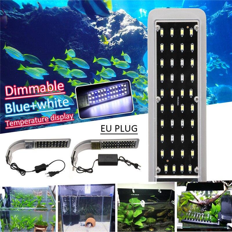 15W EU Plug Fish Tank Lightings Accessories Aquarium Fish Tank 5730 LED Light Energy-Saving Lamp For 40-80cm Fish Tank