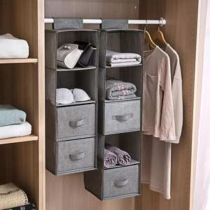 Organizer Hanging Hangers-Holder Storage-Bag Portable Drawer-Type Interlayer AUGKUN
