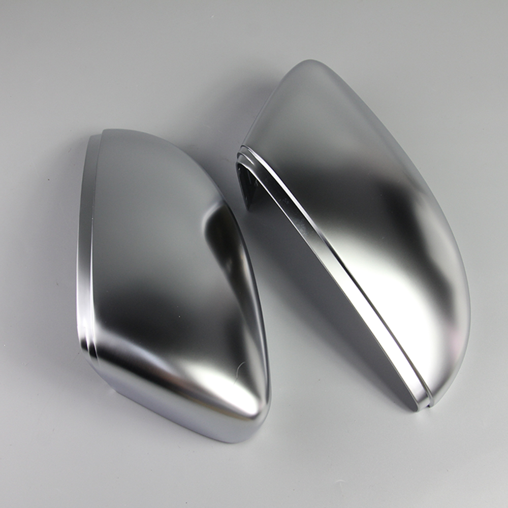 1 Pair of Matte Chrome Rearview Mirror Cover Cap Car Mirror Cover For VW Passat B7