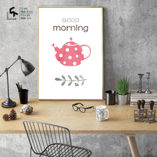 CREATE&RECREATE Coffee Poster Wall Art Canvas Painting Morning And Print Decorative Pictures For Living Room CR1810114016
