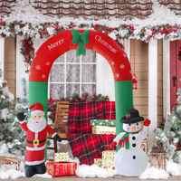 2.4 M Arco Inflável Ornamento Para Casa Escritório Loja Atmosfera de Festa de Ano Novo Do Natal Prop Decoração Festival Suprimentos Plugue DA UE