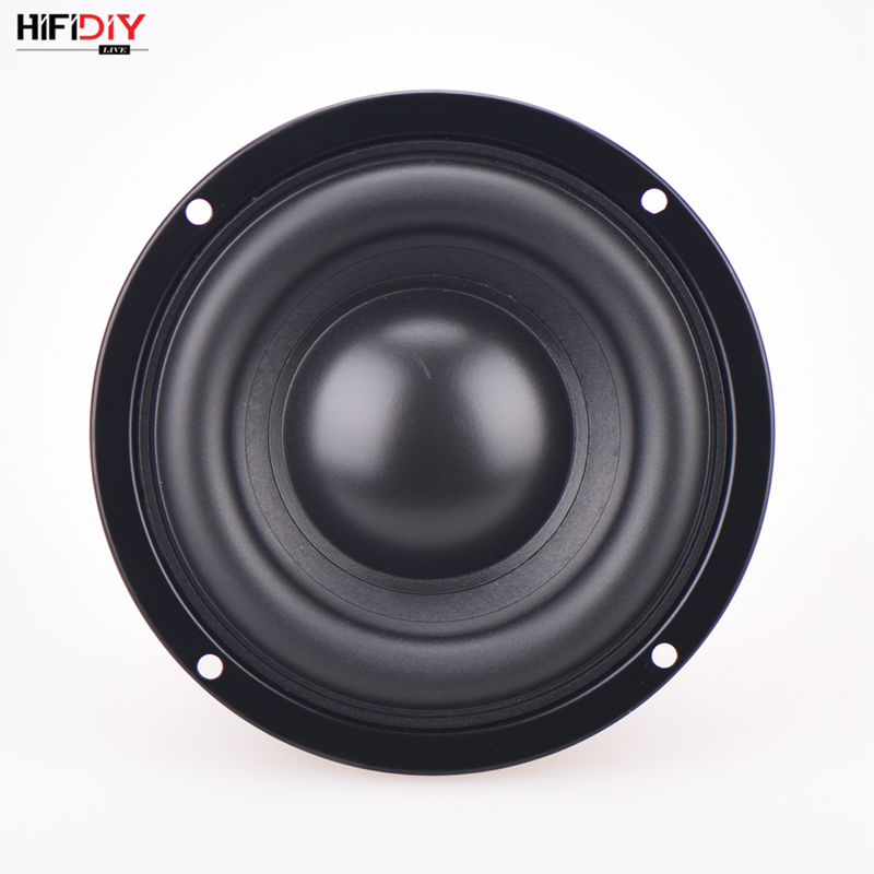 HIFIDIY AUDIO 4.5 inch 80W Round Woofer Speaker High power BASS Home Theater 2.1 Subwoofer Unit 2 Crossover Louspeakers SB4-116S Pakistan