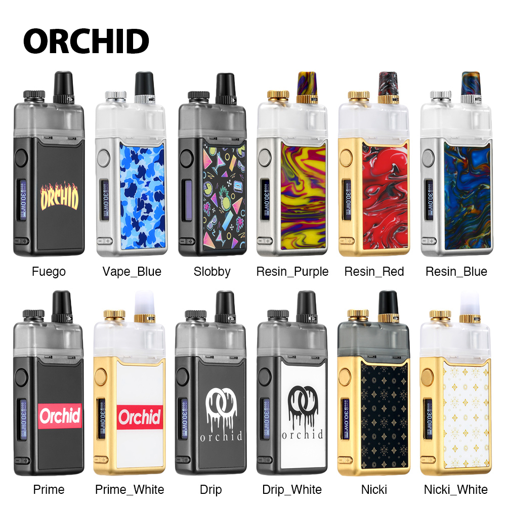New Heavengifts Orchid IQS Pod Kit 950mAh Built-in Battery With 3ml Capacity for MTL & DL vaping E-cigarette VS Drag 2 KitNew Heavengifts Orchid IQS Pod Kit 950mAh Built-in Battery With 3ml Capacity for MTL & DL vaping E-cigarette VS Drag 2 Kit