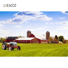 Laeacco Grassland Countryside Farm Backdrop Photography Backgrounds Customized Photographic Backdrops For Photo Studio