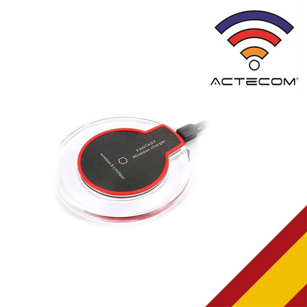 ACTECOM Cargador INALAMBRICO QI rápido Carga RAPIDA Samsung Galaxy S8/S8 borde + Plus + Versión mundial Realme Pro X2 X2 8 GB 128 GB del teléfono móvil Snapdragon 855 Plus 64MP cámara Quad NFC teléfono móvil de 50W Cargador Rápido
