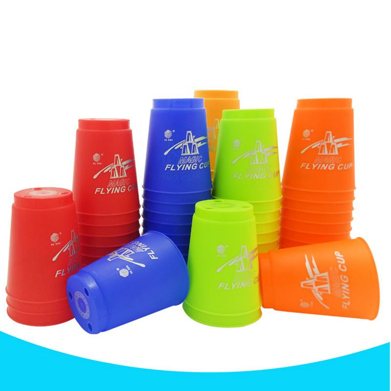 12pcs/set Sport Speed Cups Game Rapid Game Sport Flying Cups Stacking Christmas Gift Hand Sports Special Shape Toys for Children