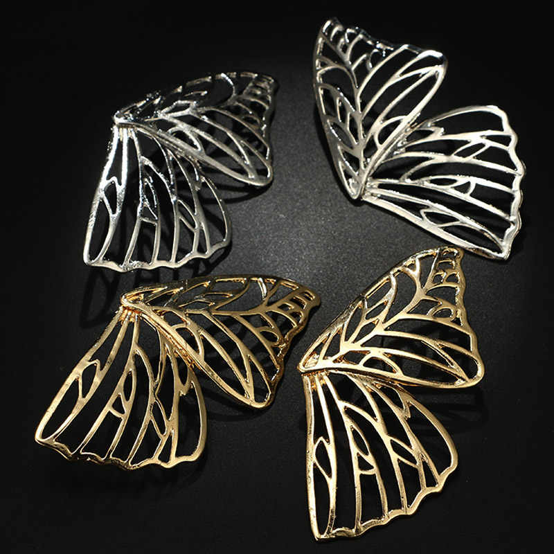 Buterfly Metal Large Wing Golden Valentines Gift 1Pair Hollow Out 2019 New Arrival Silver Beautiful Drop Dangle Earring