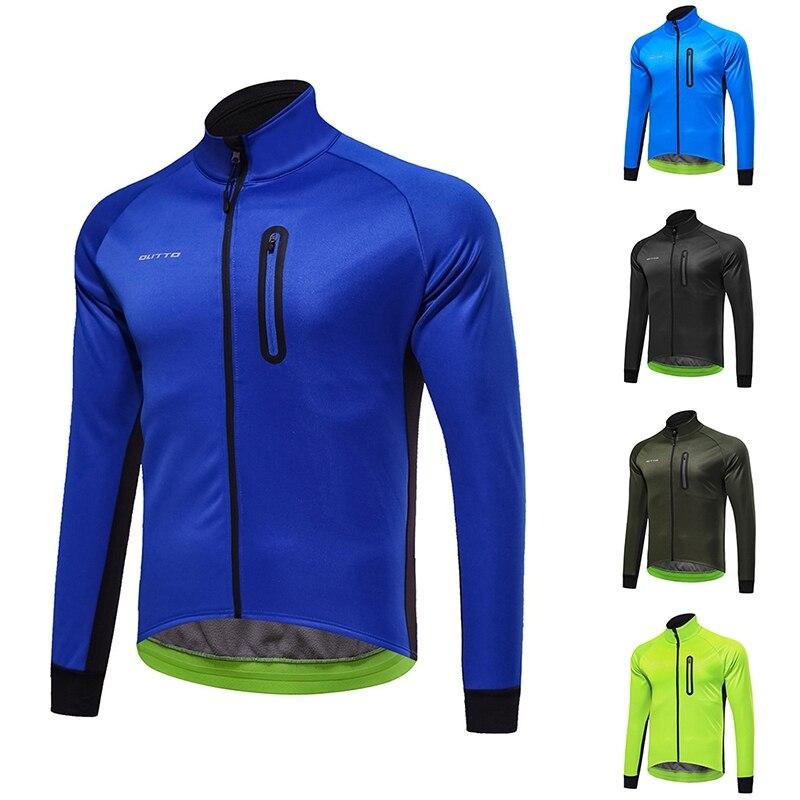 Neue Radfahren Jacke Männer Winter Warm Fahrrad MTB Rennrad Radfahren Kleidung Wind Wasserdichte Lange Hülse Jersey Klettern Mantel