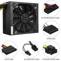1300W Miner Power Supply For 6 GPU Eth Rig Ethereum Coin Mining Dedicated Machine Gaming PC Power Supply for BTC
