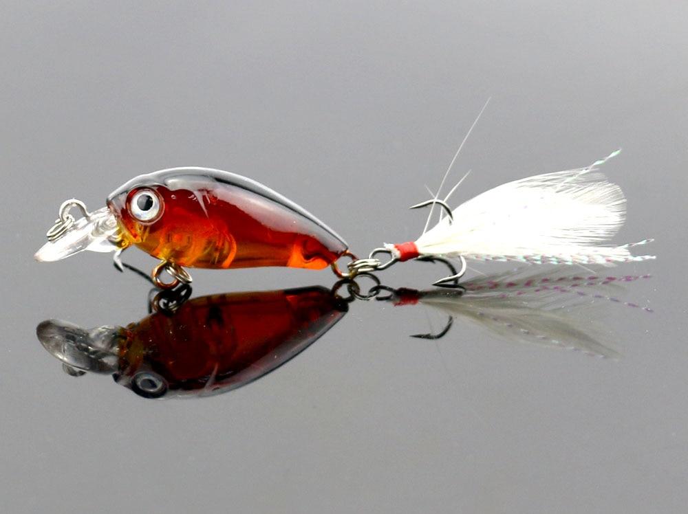 Promotion Pesca Artificials 200pcs 4g 4 5cm topwater 0 1 0 5m wobbler mini fishing crankbait