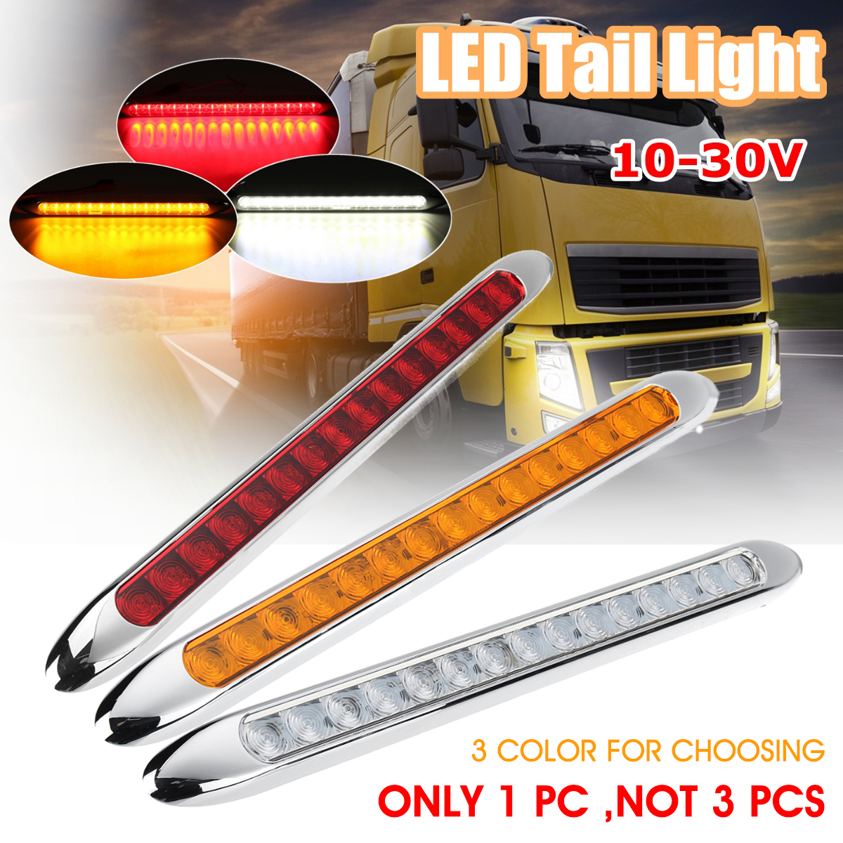 10-30V 15LED Ultra-slim Car Trailer Truck Caravan Tail Light Rear Stop Reverse Turn Signal Indicator Lamp Side Marker купить в Москве 2019