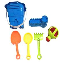 6pcs/Set Sand Water Beach Toy Kids Children Seaside Bucket Shovel Rake Kit Building Seahorse Molds Funny Tools New(China)