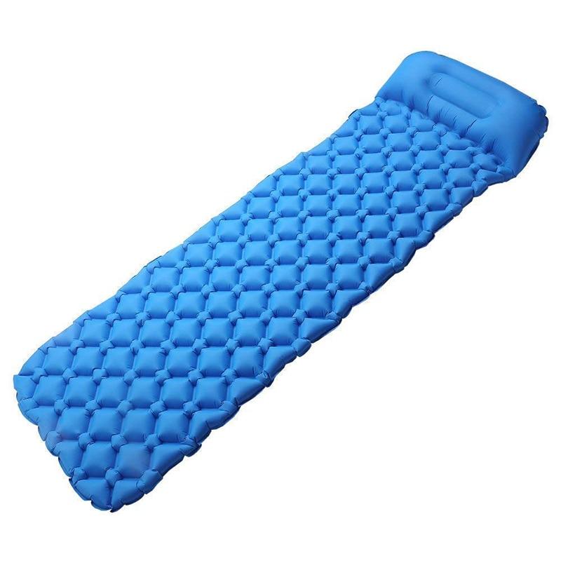 Almohadilla de dormir de Camping ultraligera autoinflada  Backpacking, senderismo ligero, resistente al agua