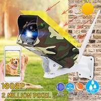 Solar Powered WiFi Wireless 1080P CCTV PIR IP Camera IP66 Home Security Camera IR Night Vision Two Way Audio Cam