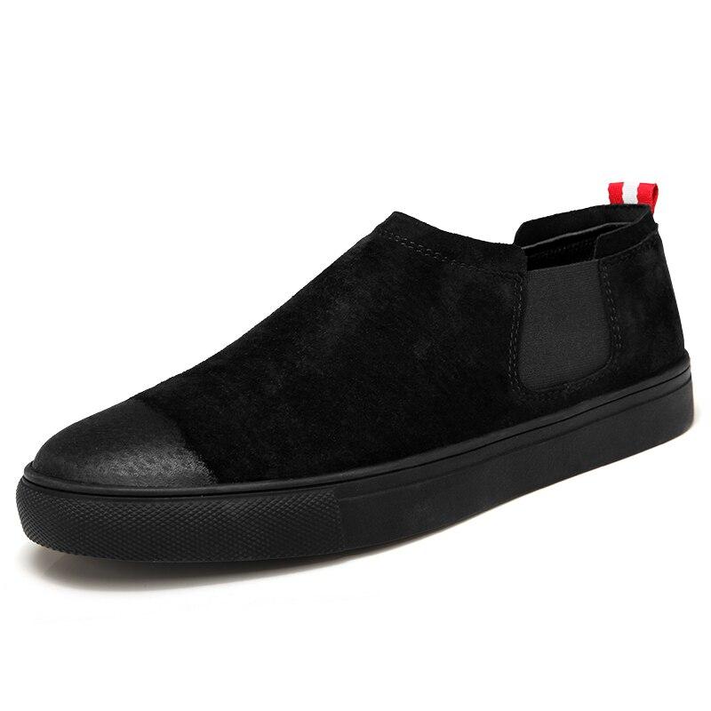 Verão Homens Em White white Lazer Dos Casuais Macio E Confortável 2 Chelsea black Sapato Sapatos 2019 2 Deslizamento black Plana Outono Calçado Do Andando xrqy0rUtBw