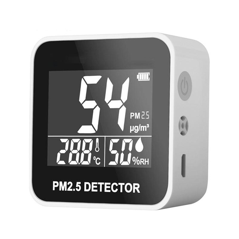 New Digital Air Quality Monitor Laser PM2 5 Detector Gas Temperature Humidity Monitor Analyzer Diagnostic Health