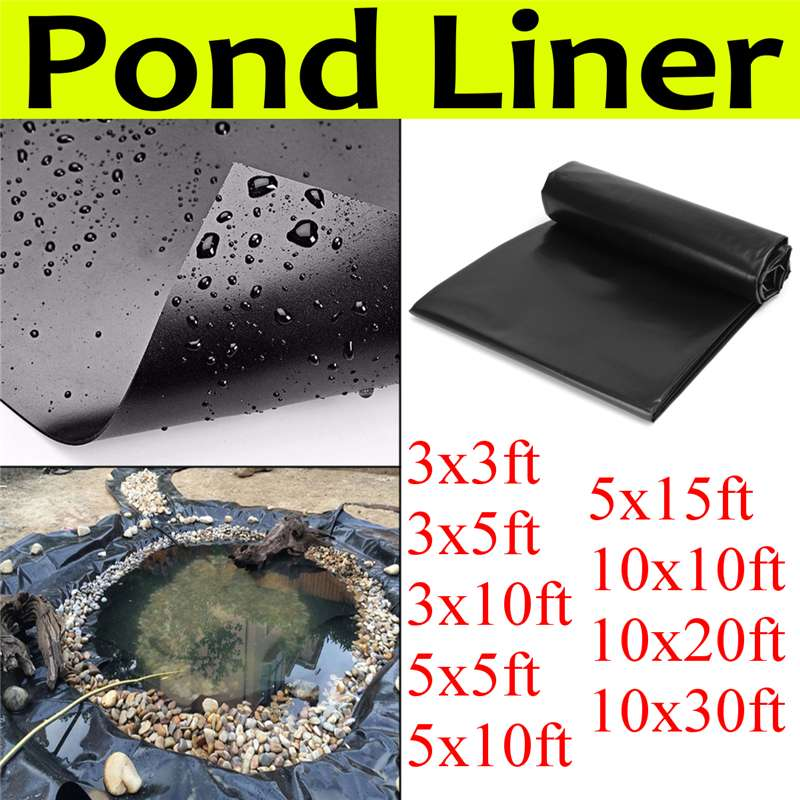9Sizes HDPE Fish Pond Liner Garden Pools Reinforced HDPE Heavy   Landscaping Pool Pond Waterproof Liner Cloth1.5mm Thick