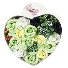 4 Types Artificial Rose Romantic Heart Shape Flower Gift Box Soap For ValentineS Day Mothers To Women