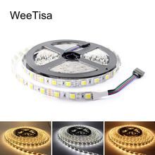 CCT LED Strip Light 12V Dimmable WW CW SMD 5050 Warm White to Cool Adjustable Flexible 5M Tape Stripe Home Lighting