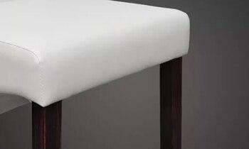 VidaXL 2 Uds Cómodas Sillas De Comedor Blanco De Cuero Sintético Asiento De La Sala De Estar Sólida Silla De Estudio De Diseño Moderno De Ordenador