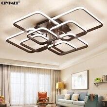 Квадратный Circel кольца потолочные светильники для гостиная спальня дома AC85-265V современный светодиодный потолочный светильник lustre plafonnier