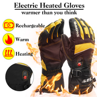 Electric Heated Gloves, Rechargeable Battery Motorcycle Heating Winter Gloves Men Women, Hand Warmers Tactical Mittens