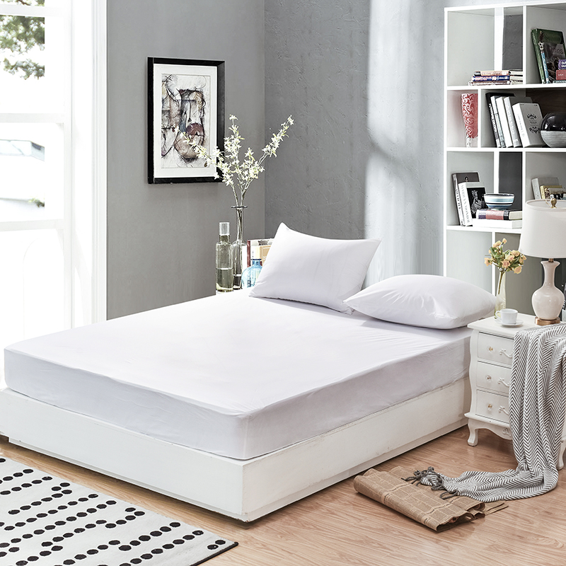160X200cm Smooth Waterproof Mattress For Box Spring Mattress Cover BedBug Proof and Hypoallergenic Fitted Sheet 45