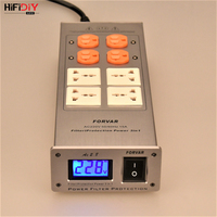 HIFIDIY LIVE AUDIO Power filter AC2.8 power supply socket lightning protection with voltage display extension socket