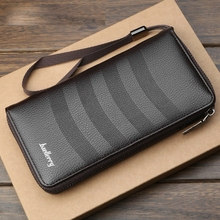 Mens Wallet Clutch Bag Multi-Card Retro Youth Long Large Capacity Mobile Phone Male