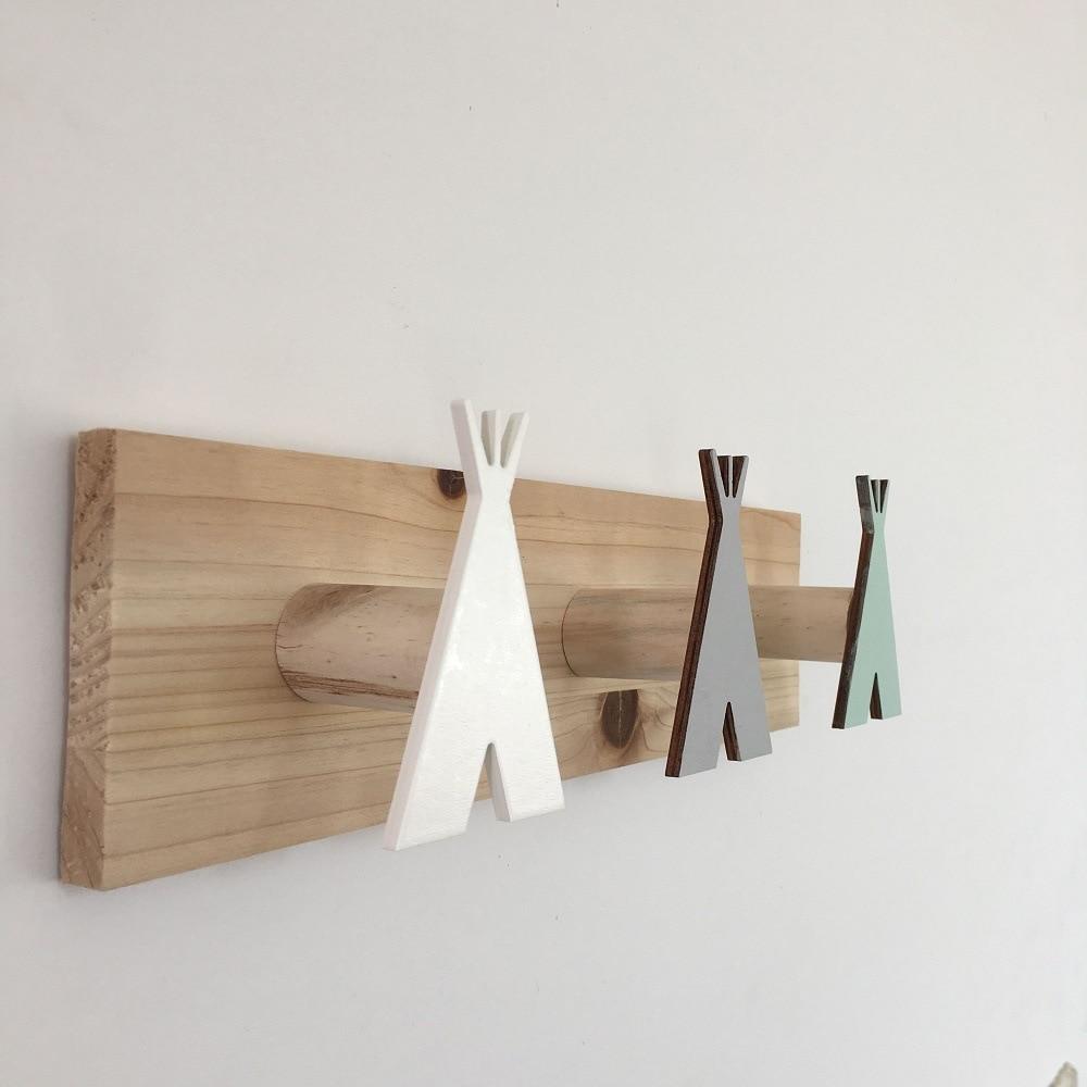Wooden Wall Hangers Nursery Hook Kids