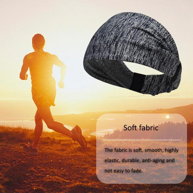 Sports Sweat Headband Sports Shirt Riding Yoga Hair Band Elastic Belt Sweat Sports Unisex Safety Turban Headwear Mountain Bike B 5