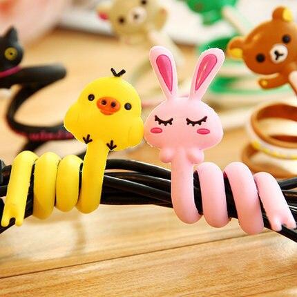 china 3 Pcs Nette Tier Draht Clip Organizer Büro Zubehör Spuler Wrap Kabel Manager Für Maus Tastatur Linien Hohe QualitäT Und Geringer Aufwand