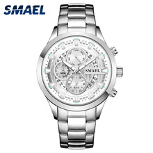 купить Mens Wrist Watches Luxury Design Quartz Watch Men Waterproof 30M Clock 9619 Stainless Steel Bracelet erkek kol saati Watches Men по цене 2409.2 рублей