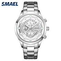 Mens Wrist Watches Luxury Design Quartz Watch Men Waterproof 30M Clock 9619 Stainless Steel Bracelet erkek kol saati Watches Men