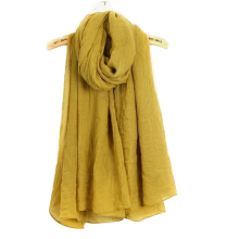 Solid Color Cotton And Linen Scarf Hot Autumn Winter Ladies Monochrome Summer Beach Soft Shawl Retro