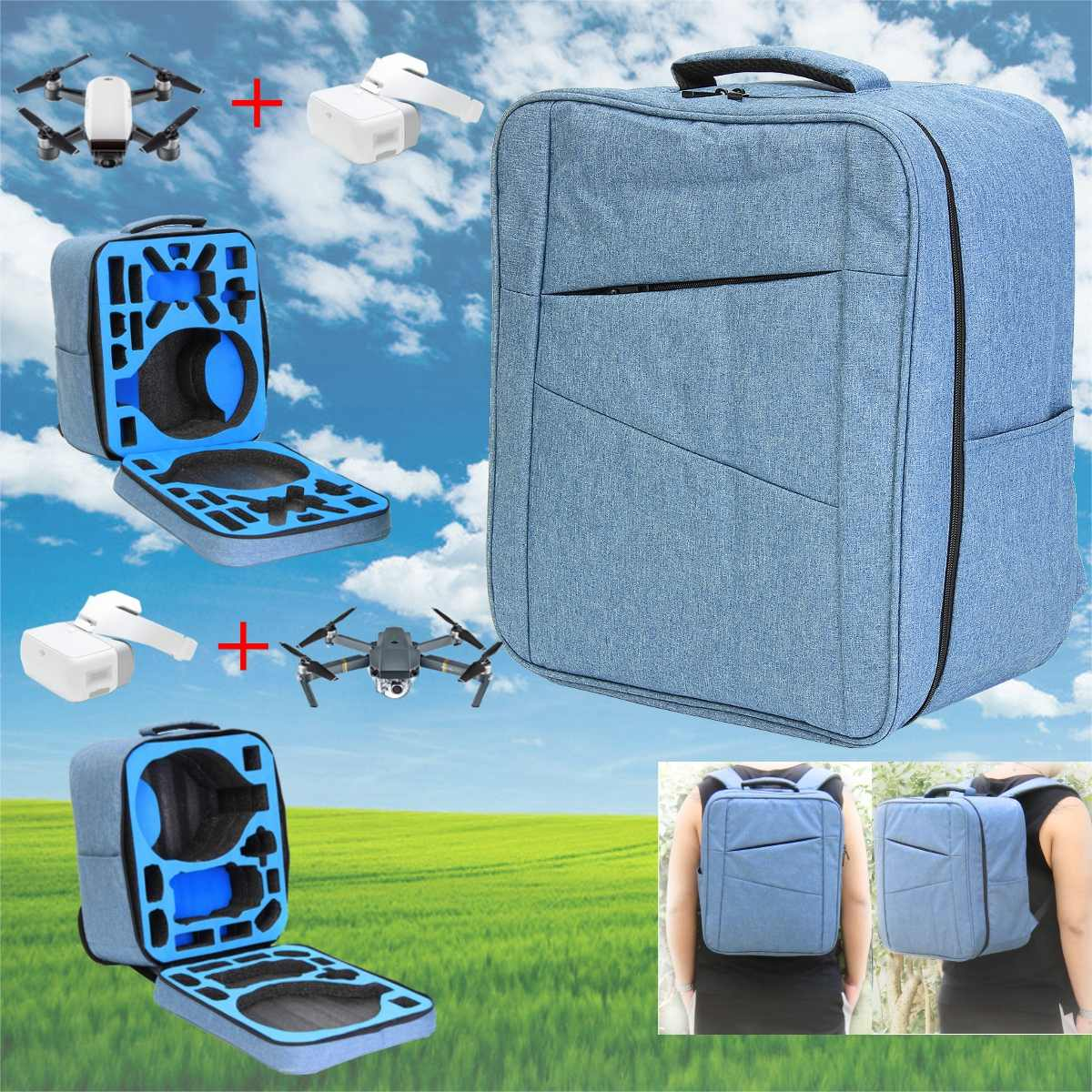Sac à dos Portable couleur bleu océan pour DJI spark DJI mavic pro Drone sacs accessoires