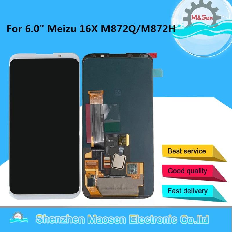 Original M&Sen For 6.0 Meizu 16X 16 X Super AMOLED LCD Display Screen+Touch Panel Digitizer For Meizu 16X M872Q M872H DisplayOriginal M&Sen For 6.0 Meizu 16X 16 X Super AMOLED LCD Display Screen+Touch Panel Digitizer For Meizu 16X M872Q M872H Display