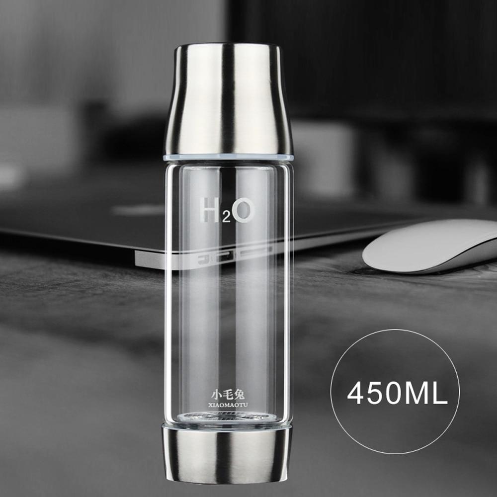 450 ML Bottiglia di Acqua Smart Touch Bottiglie di Acqua Portatile Ricaricabile Bottiglia di Vetro resistente Al Calore WaterSelf Funzione di pulizia-in Bottiglie per acqua da Casa e giardino su  Gruppo 1