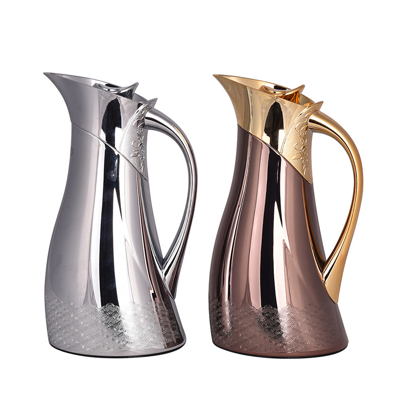 1.2L European retro coffee pot stainless steel kettle Hot Water Bottle Thermal Carafe Insulation Jug Flask
