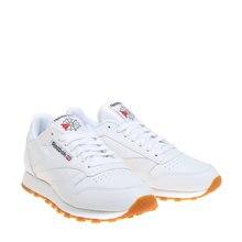8c3f8e6c9 REEBOK CLASSIC LEATHER Blanco Hombre Sneaker Ligera Moldeada EVA  Durabilidad Piel Suave Zapatillas Cómodo Moda Man