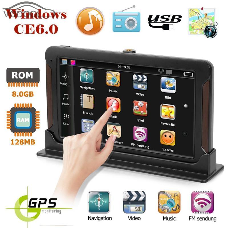 7 Capacitive Touch Screen Q8 Center Console Car 3D GPS Navigator FM Transmitter Audio Video Player