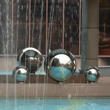 Высокая яркость блеск Сфера 304 Нержавеющая полый стальной шар бесшовные зеркало мяч украшения для рождественвечерние вечеринки год орнамент
