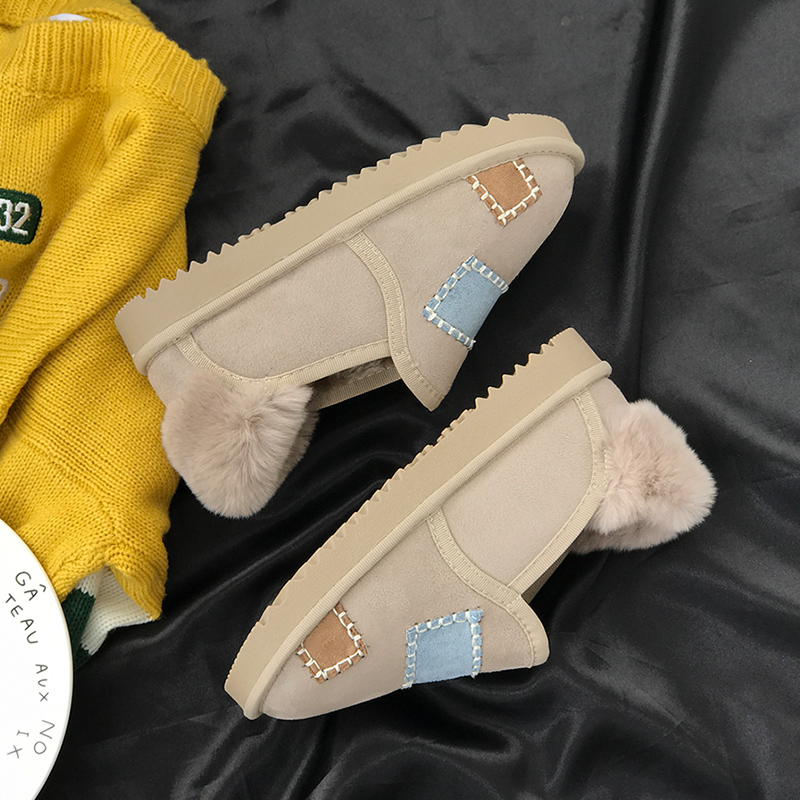 Fashion Winter Women Shoes Patch Thickening To Keep Warm Female Footwear Non-slip Plus Flock Ladies Ankle Boots 19