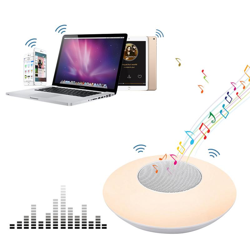 Image 3 - Wireless Bluetooth Player X6 Colorful Smart LED Lamp Speaker Stereo Hd Sounds Music Surrounding Devices Lamp Offices Outdoor-in Portable Speakers from Consumer Electronics