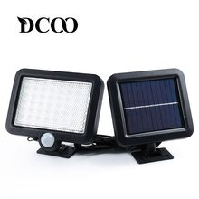DCOO Solar lamp 56 Leds Outdoor Decoration Garden Lawn Lamps Lighting Sensor Lights Solar Motion Detection Wall Solar Lamp(China)