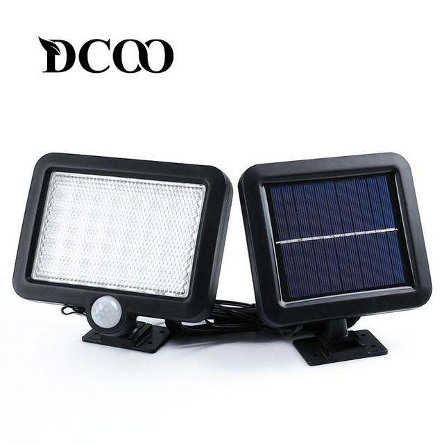 DCOO Solar lamp 56 Leds Outdoor Decoration Garden Lawn Lamps  Lighting Sensor Lights Solar Motion Detection Wall Solar Lamp