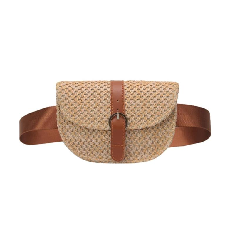 Women Straw Weave Waist Chest Bag Small Holiday Beach Female Shoulder Messenger Bags Sac A Dos Bolsas Feminina Mujer Sac A Main