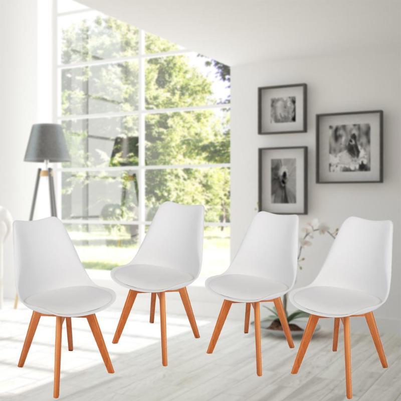 4 шт. мягкий коврик для отдыха деревянный стул нога стул для гостиной дома отель Обеденная Мебель для ресторана скандинавские спинки стул